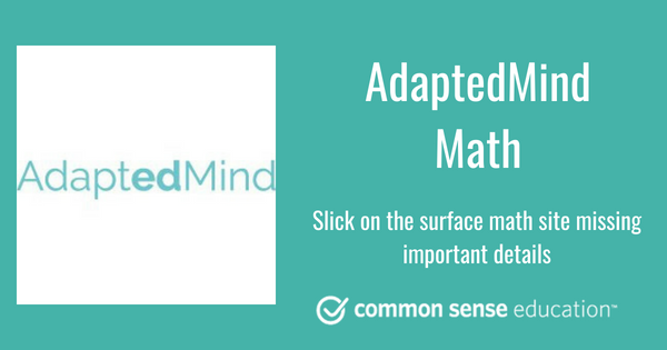 AdaptedMind Math Review for Teachers | Common Sense Education