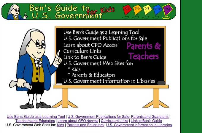 Ben's Guide to U.S. Government for Kids Review for ...
