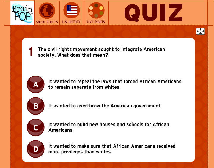 Brainpop review for teachers common sense education interactive quizzes are part of the brainpop experience ccuart Image collections