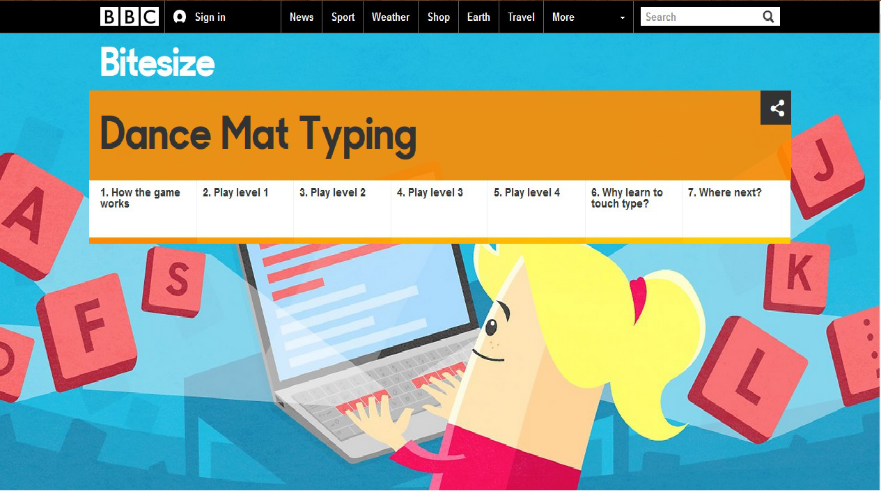 Worksheets Bbc Typing dance mat typing review for teachers common sense education theres a step by time line learning how to touch type