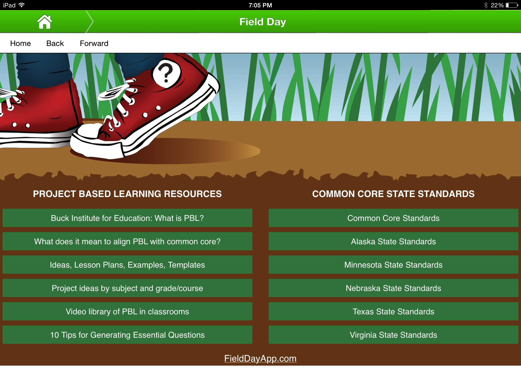 Field Day ProjectBased Learning Think Do Tool Review For - Project based learning lesson plan template