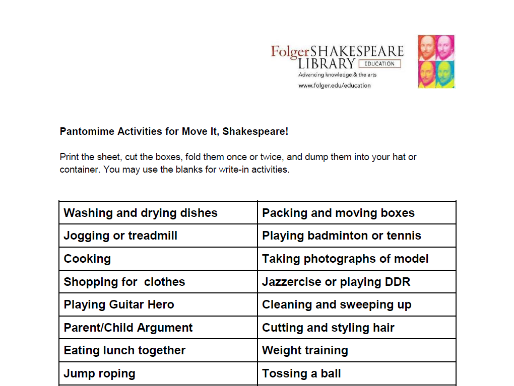 folger shakespeare library educator review common sense education. Black Bedroom Furniture Sets. Home Design Ideas