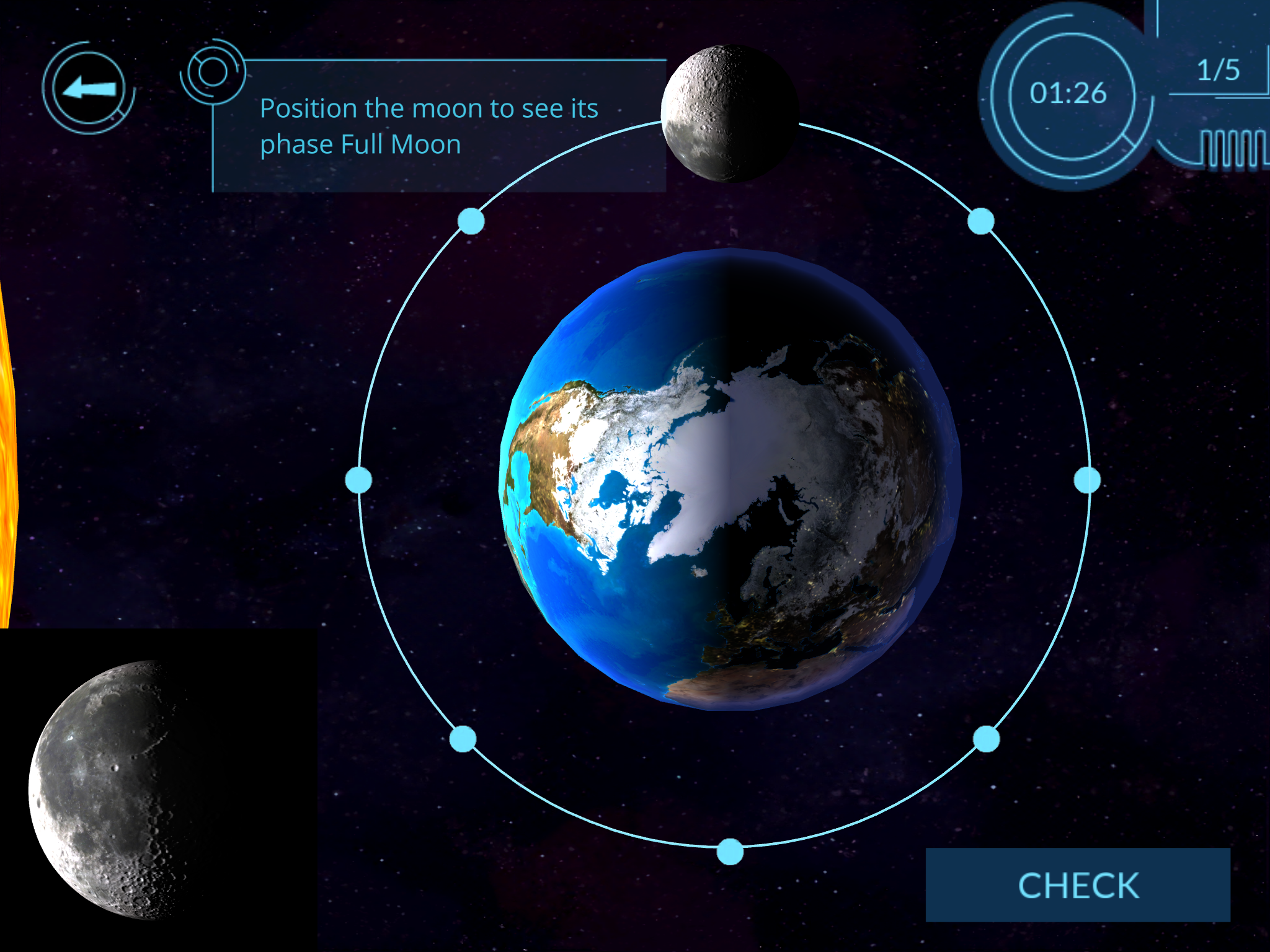 Arloon solar system review for teachers common sense education figure out the phases of the moon sciox Choice Image