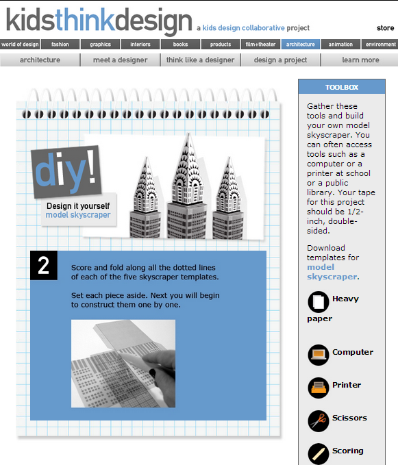 Kidsthinkdesign review for teachers common sense education do it yourself projects are included with every section in this case a template solutioingenieria Choice Image