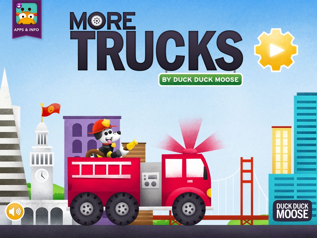 More trucks by duck duck moose educator review common for Truck design app