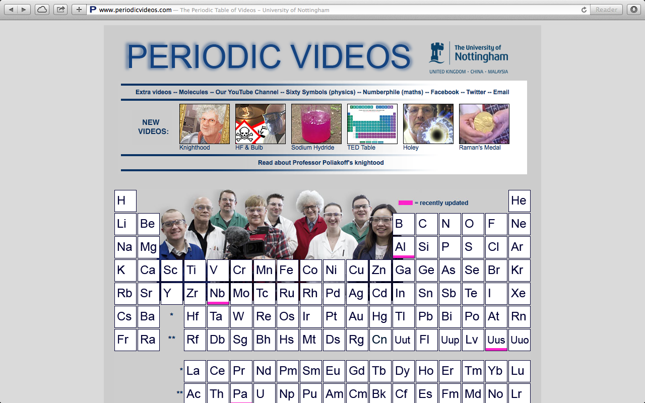 Periodic videos review for teachers common sense education link to the 118 elemental videos via the periodic table or choose extra videos urtaz Image collections