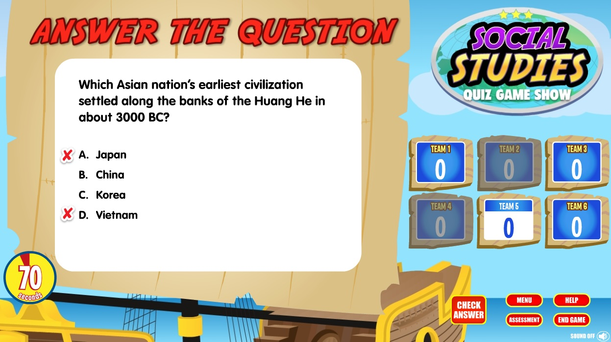 Social Studies Quiz Game Show Review For Teachers Common Sense Buzzer Find Great Deals On Ebay Each Time A Question Is Answered Incorrectly Another Team Can Buzz In To Answer