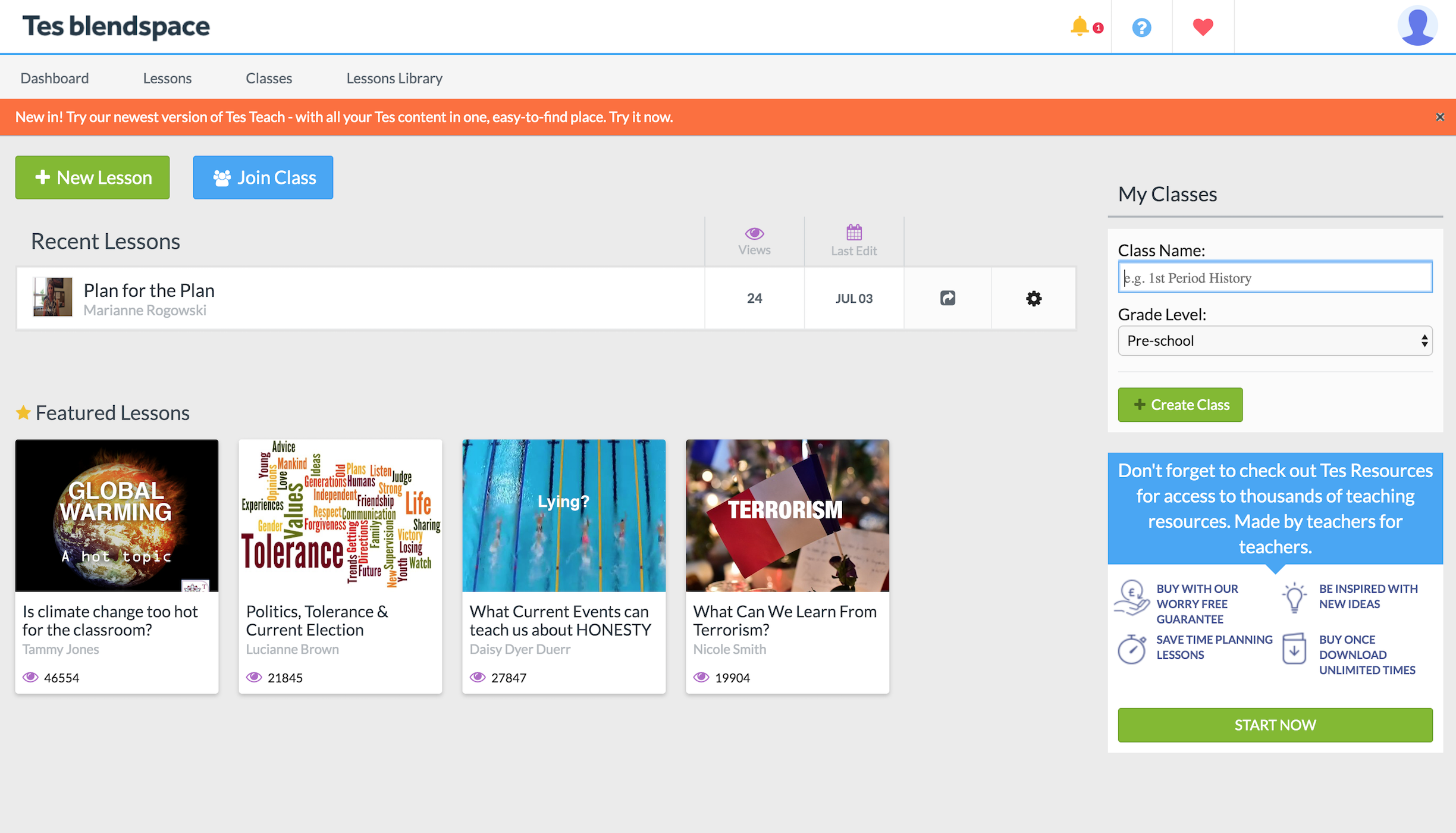 TES Teach with Blendspace Review for Teachers | Common Sense Education