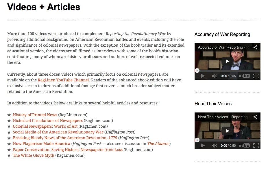 Reporting the Revolutionary War Review for Teachers   Common