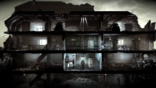 The game starts focused on a rubble-filled, rundown shelter.