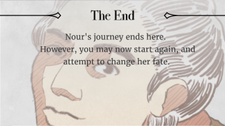 The ending features an emotional voice message and a prompt to try again.