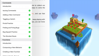 Following the series of challenges provides a logical progression of skills, but each course also allows players to jump to different challenges.