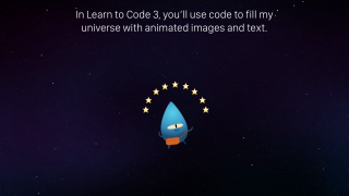 Later courses teach students how to draw objects, track screen touches, and animate images.