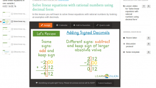 Video lessons created by experienced teachers explain CCSS-related math skills.