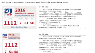 You can embed an election clock into your own website.