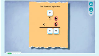 This particular activity helps students practice the multiplication algorithm.