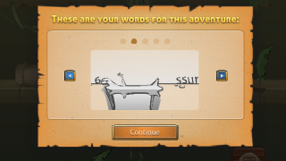 Animations introduce new words.