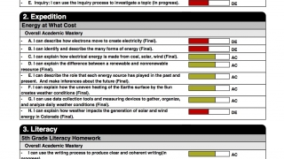 Create a range of color-coded progress reports.