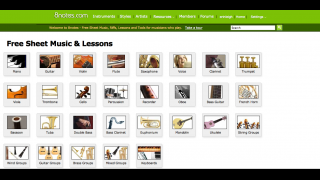 Users can access sheet music for more than 25 instruments.