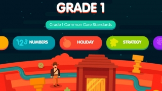 Once you choose your grade level, games are categorized by subject.