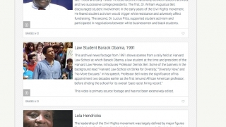 Easy-to-find video clips capture the voices of Civil Rights activists.