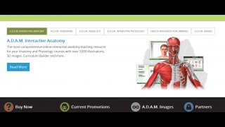 A.D.A.M. Interactive Anatomy is a 3D visualization tool and curriculum about the human body.