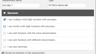 Quickly and easily add assignments and link to standards.