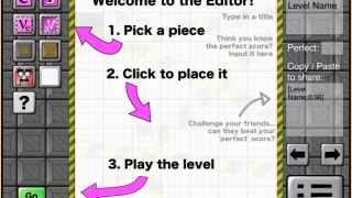 Create your own levels with the Level Editor, and share the puzzles with others.