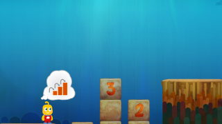 In another game kids build a ladder using consecutively taller blocks