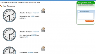 Though audio aids help, the Comments window (at right) may not be useful for pre-literate students.