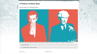 "One quiz challenges students to guess whether a quote is from ""Doctor Who"" or a philosopher."