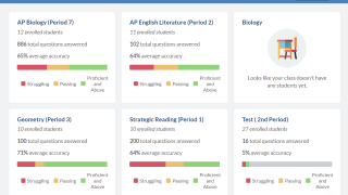 Individualized test prep is available for AP, core subjects, world languages, and more.