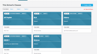 See all your classes on the teacher dashboard.