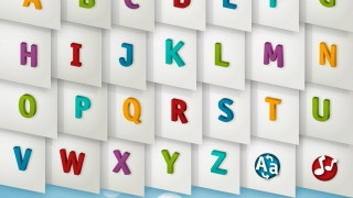 Listen to the alphabet song, hear letters in alphabetical order, or see uppercase or lowercase letters.
