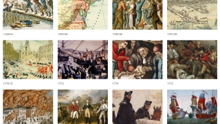Users can view historic coverage of the Revolutionary War.