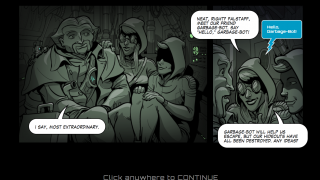 Animated comics introduce each chapter.