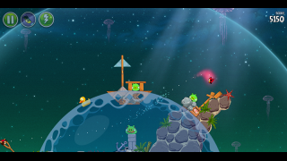 On some levels, players deal with the physics of space gravity and water.