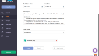 Set expectations by attaching directions and files to tasks.
