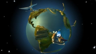 The beautiful globe provides a bit of geography in the mix of geology, history, and animal science.
