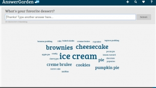 Students see their answers populate a word cloud in real time.