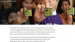 The anti-bias training section offers five different programs for schools and classrooms.