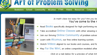 AoPS offers math guidance for students in competitions or who just want to review concepts.