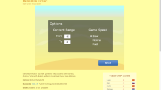 Customization options for content range and speed give kids some up-front control over gameplay.