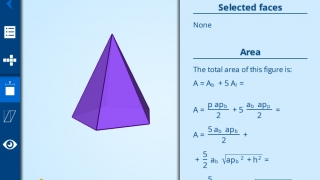 Kids learn formulas for area and volume.