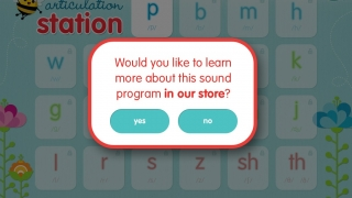 To purchase letters, tap on one; the app prompts you to go to its store.