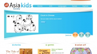 A separate Asia Kids Society site offers simple games and activities for younger users.