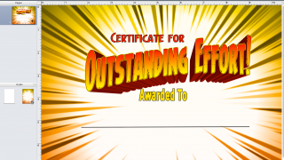 Use certificate templates for positive student recognition.