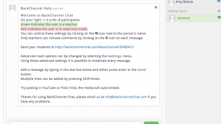 With a chat named, a teacher dashboard is created.