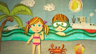 When kids put Beck and Bo into the ocean, they swim.