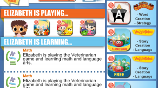Parents or teachers can view reports of which games kids are playing and the skills they're learning.